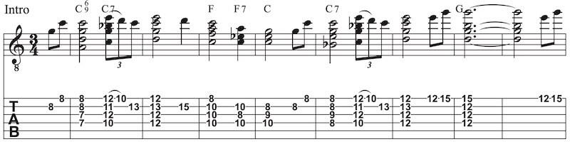 Amazing grace Instrumental gitarre