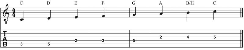 C Dur Tonleiter