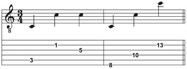 C Griffbrett Gitarre