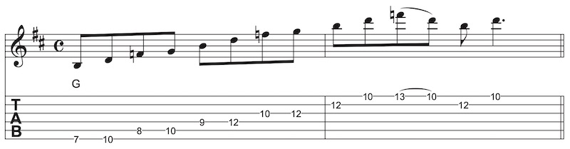 Country Gitarre Lick G7