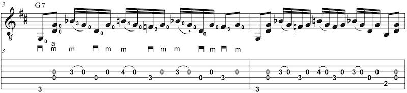 G-Dur Riff im Banjo Style