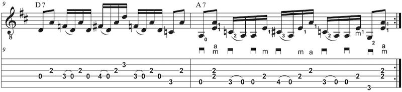 Country Gitarre lernen D-Dur A-Dur