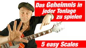 Das musst du wissen Dur Tonleitern auf der Gitarre | Harmonielehre für Gitarre | Diese 5 gleichen Pattern solltest du kennen!