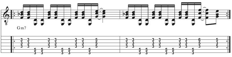 Hammondorgel-Riff auf Gitarre spielen