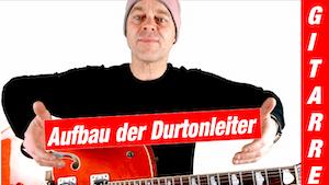 Aufbau der Durtonleiter auf der Gitarre