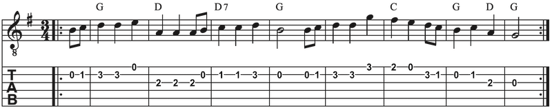 Weihnachtslieder auf Gitarre spielen Schneeflöckchen Weißröckchen