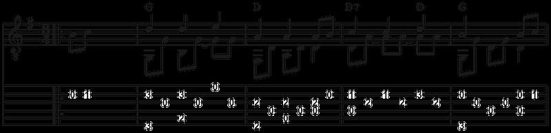 Solostück Schneeflöckchen Weißröckchen gitarre