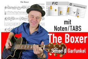 The boxer Gitarre lernen deutsch | beste Guitar lesson mit Noten und TABs | Folkpicking in 4 Schritten