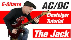 The Jack ACDC Gitarre | Einsteigerlesson E Gitarre lernen | Einfache Songs für E-Gitarre Anfänger