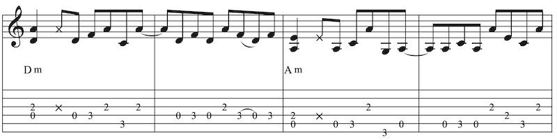 Blues Gitarre lernen Takte 5 - 8