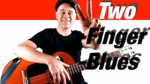Blues spielen mit 2 Finger | Two-Finger-Blues | Blues Gitarre lernen