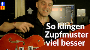 Zupfmuster interessanter machen | Folkpicking mit Melodie | Travis picking Gitarre